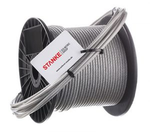 Verzinktes Stahlseil mit PVC Ummantelung