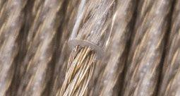 Stahlseil vermessingt mit PVC-Ummantelung